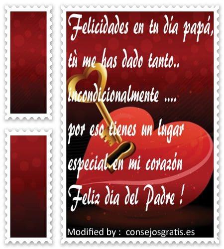 tarjetas con mensajes de amor para dia del padre