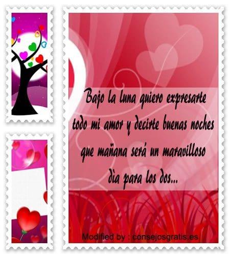 frases de buenas noches para mi amor para compartir,mensajes bonitos de buenas noches para mi amor