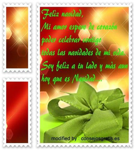 tarjetas bonitas con frases de navidad para enviarle a mi pareja, lindas palabras con imàgenes de navidad para mi novia