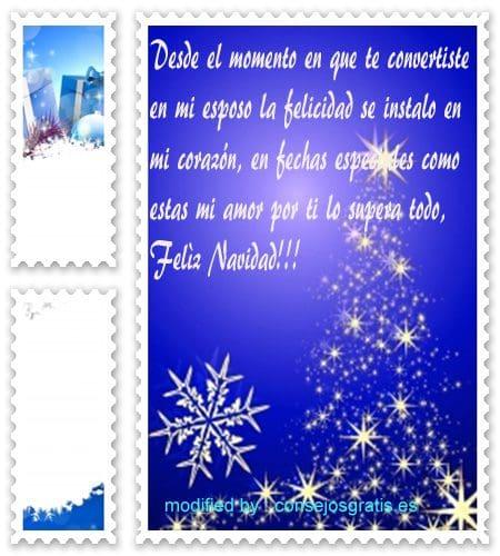 tarjetas bonitas con frases de navidad para un esposo maravilloso, lindas palabras con imàgenes de navidad para mi amado esposo