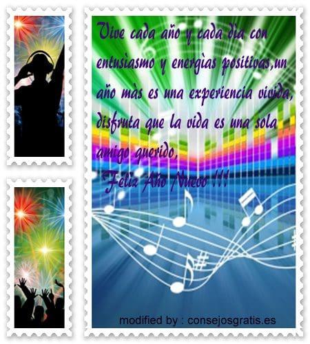 tarjetas con saludos y buenos deseos de felìz año nuevo para mis amigas,  imàgenes con versos de felìz año nuevo para mis amigos