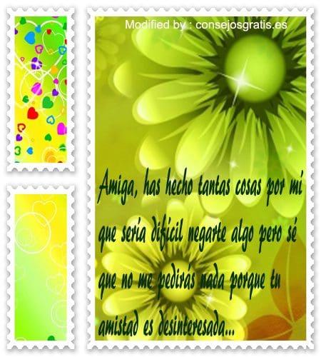 tarjetas con mensajes bonitos para amigas, aquì gratis palabras para amigas
