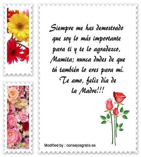sms para el dia de la Madre,textos para el dia de la Madre,dedicatorias para el dia de la Madre