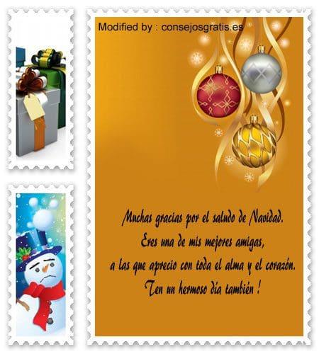 frases con imàgenes de agradecimiento para enviar en Navidad, palabras de agradecimiento para enviar en Navidad