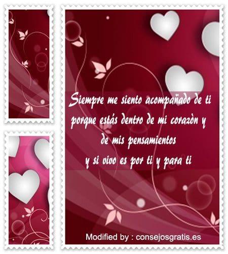 bonitas dedicatorias de amor para mi novia,tarjetas con pensamientos de amor para mi novia