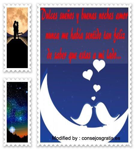 palabras de buenas noches para mi amor,pensamientos de buenas noches para mi amor