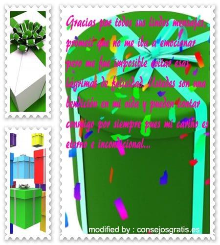 frases de agradecimiento por saludos y regalos de cumpleaños, textos bonitos de agradecimiento por saludos y regalos de cumpleaños