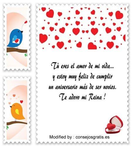 frases de aniversario de novios para compartir,mensajes bonitos de aniversario de novios
