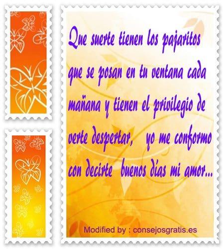 mensajes y frases de buenos dìas para mi novia con imàgenes,postales con poemas de buenos dìas para tu pareja