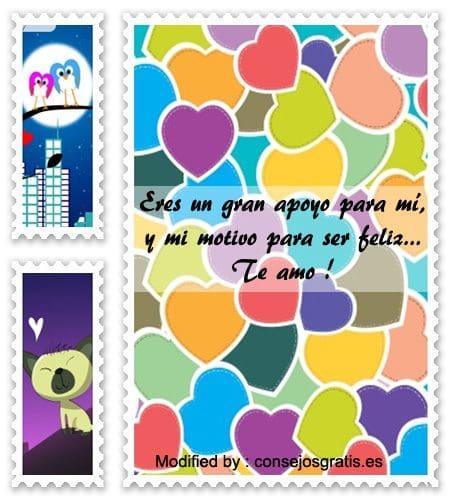 palabras y tarjetas de amor para mi novio, originales mensajes de romànticos para mi novio con imágenes gratis