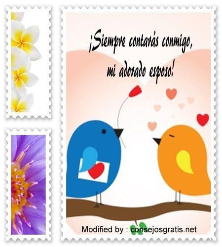 frases románticas para mi esposo,mensajes de amor para mi esposo