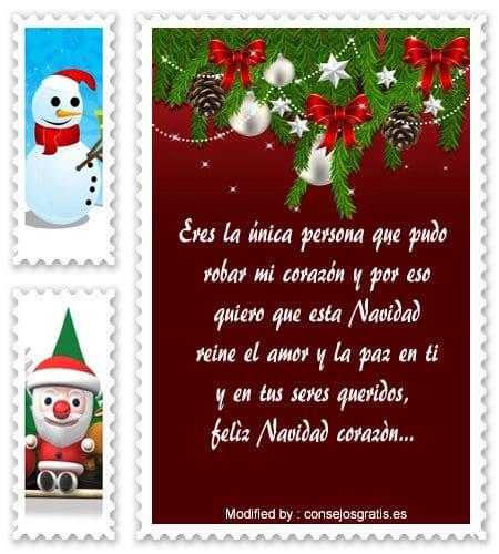 frases bonitas para enviar en Navidad a mi enamorada,carta para enviar en Navidad a mi novia