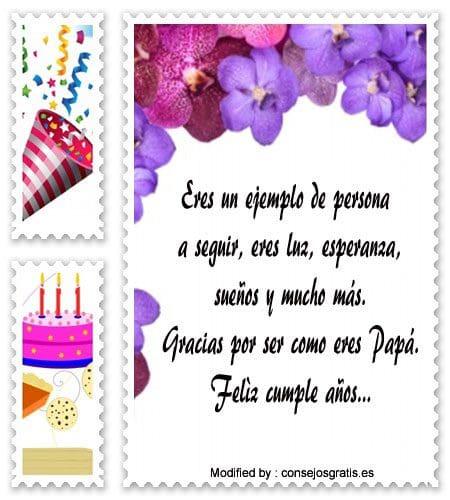 descargar mensajes de cumpleaños para mi Papà ,mensajes bonitos de cumpleaños para mi Papà