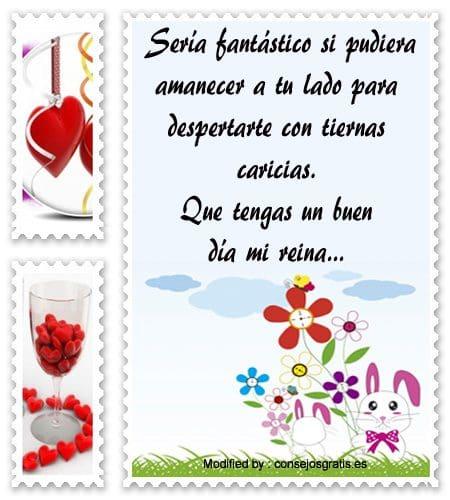 mensajes bonitos de buenos dias para mi amor,Mensajes de buenos dias para  mi amor