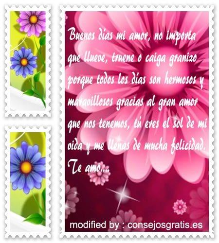 tarjetas con textos de buen dìa para mi novia gratis,dedicatorias de buenos dìa para mi pareja con imàgenes
