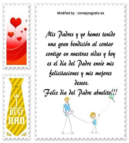 buscar frases para el dia del Padre,descargar mensajes bonitos para el dia del Padre