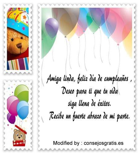 bonitos mensajes de cumpleaños para mi amiga,bonitas dedicatorias de cumpleaños para mi amiga