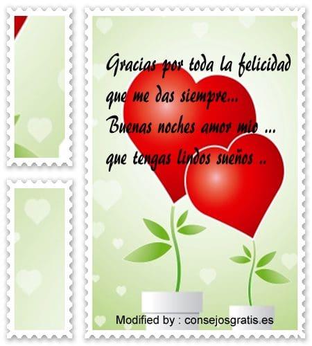 frases bonitas de buenas noches con amor para enviar por sms