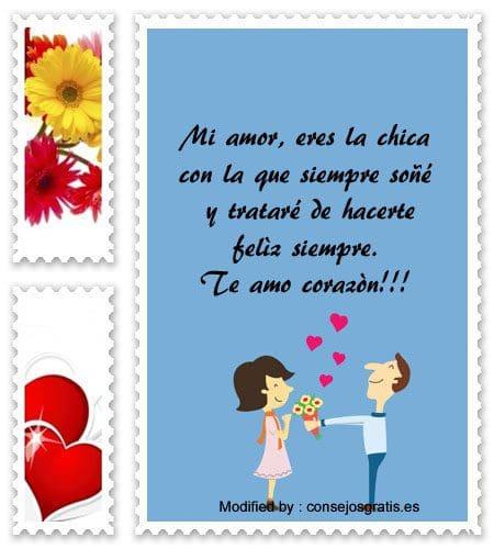 enviar mensajes de amor para mi novia con imàgenes,palabras y tarjetas de amor para mi novia,originales mensajes de romànticos para mi novia con imágenes gratis