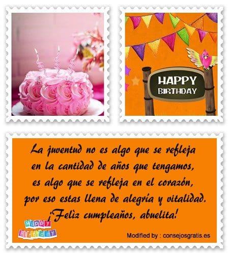 enviar imàgenes con saludos de cumpleaños para mi Abuelita