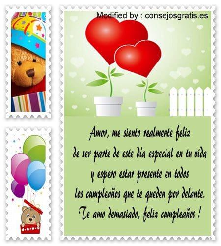 Saludos Y Tarjetas Bonitas De Cumpleaños Para Mi Novia
