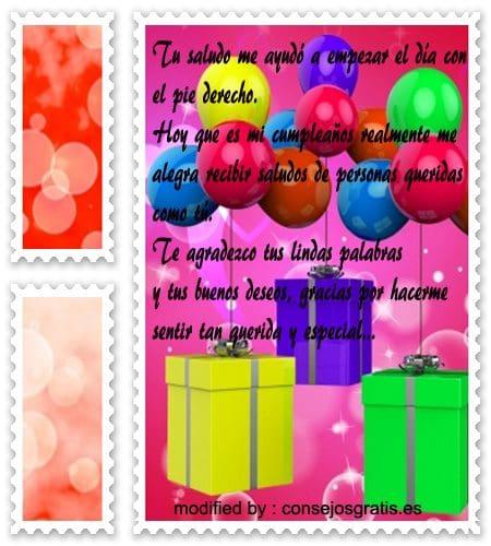 Gracias Por Saludo De Cumpleaños En Facebook Consejosgratises