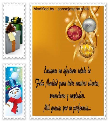 descargar mensajes bonitos de Navidad empresariales