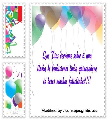mensajes bonitos para quinceañera para su cumpleaños