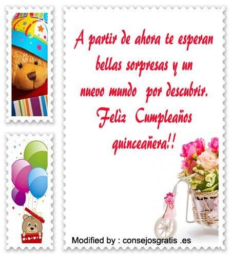Saludos Para Quinceañeras Frases De Feliz Cumpleaños