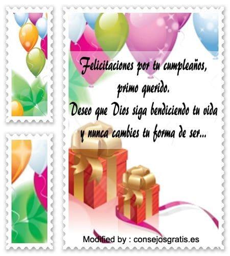 Felicitaciones De Cumpleaños Para Un Primo Saludos De