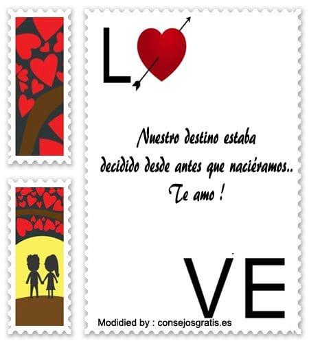 tarjetas con pensamientos de amor para mi enamorada