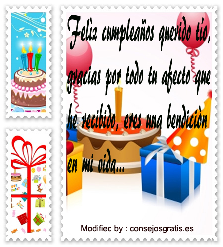 Postales Con Saludos De Cumpleaños Para Mi Tío