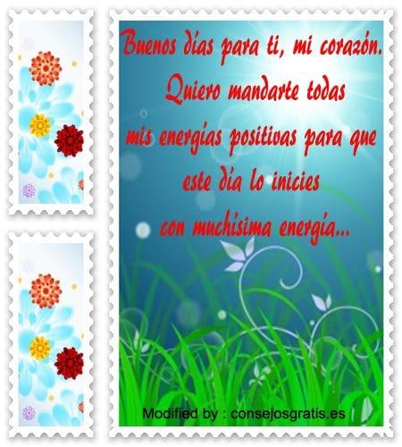 Frases Bonitas De Buenos Dias Amor Mensajes De Buenos Dias