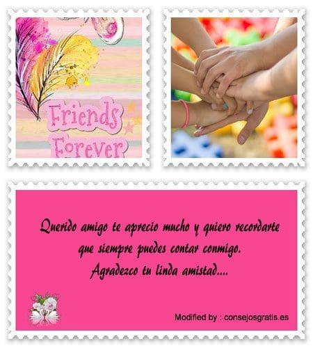 descargar mensajes bonitos de amistad