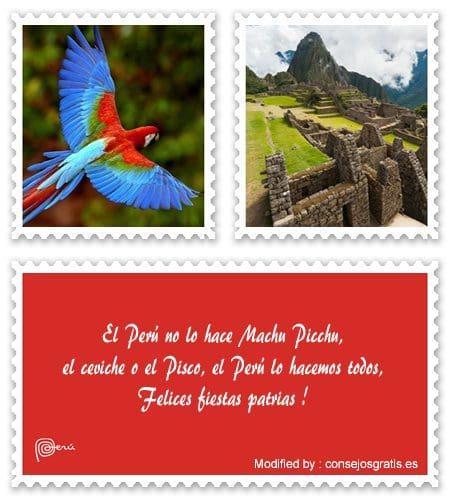 descargar tarjetas con saludos de fiestas patrias Perù