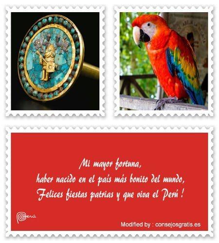 saludos de fiestas patrias Perù