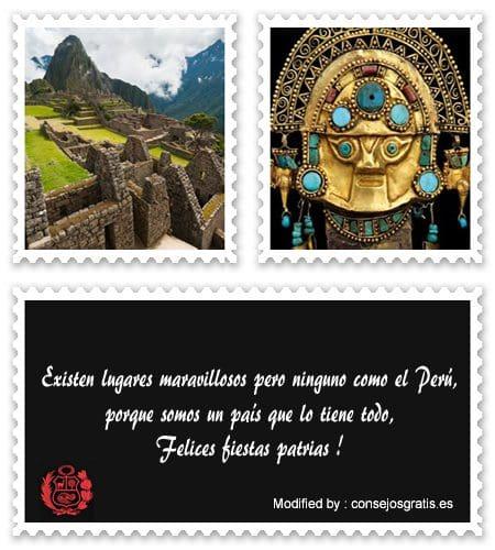 sms de fiestas patrias Peruanas