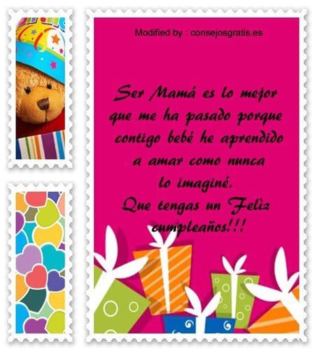 Frases De Cumpleaños Para Tu Bebe Mensajes De Cumpleaños