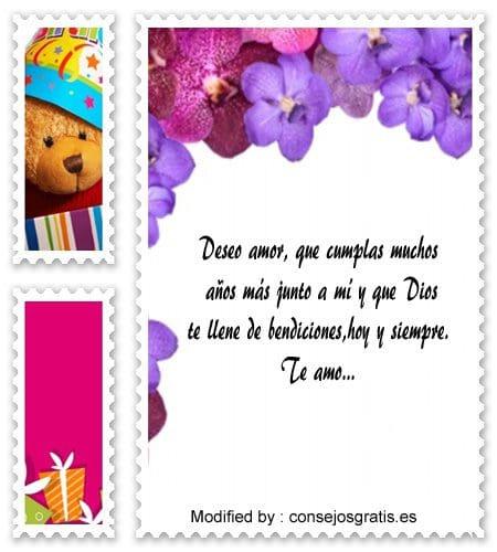 bonitos mensajes de feliz cumpleaños para mi amor