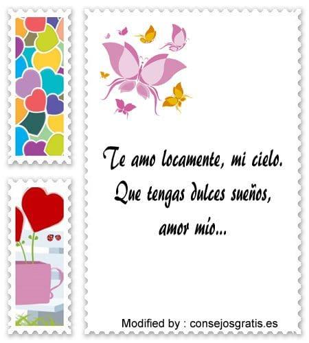 frases de buenas noches para mi novia para compartir,mensajes bonitos de buenas noches para mi novia