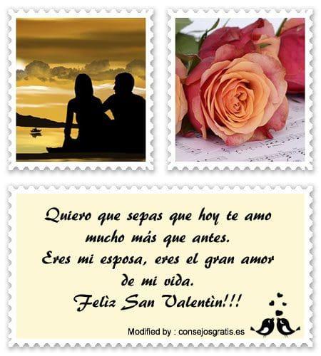 frases y mensajes románticos para San Valentinr