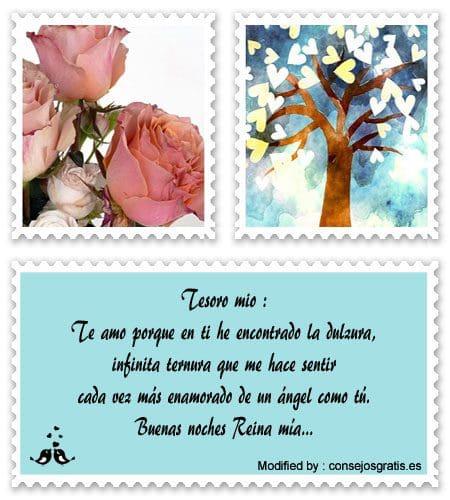 mensajes de amor de buenas noches para enviar